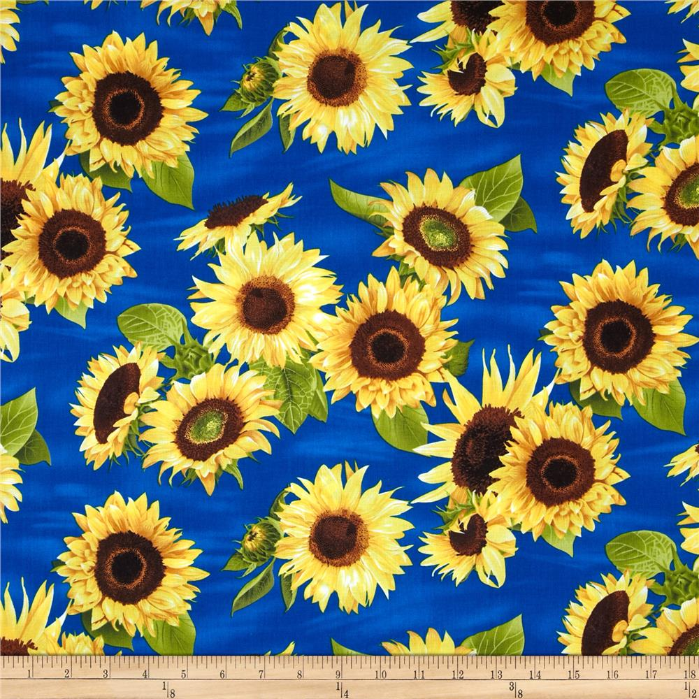 Sunflowers Tossed Sunflowers Blue