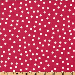 Remix Polka Dots Bright Pink Fabric