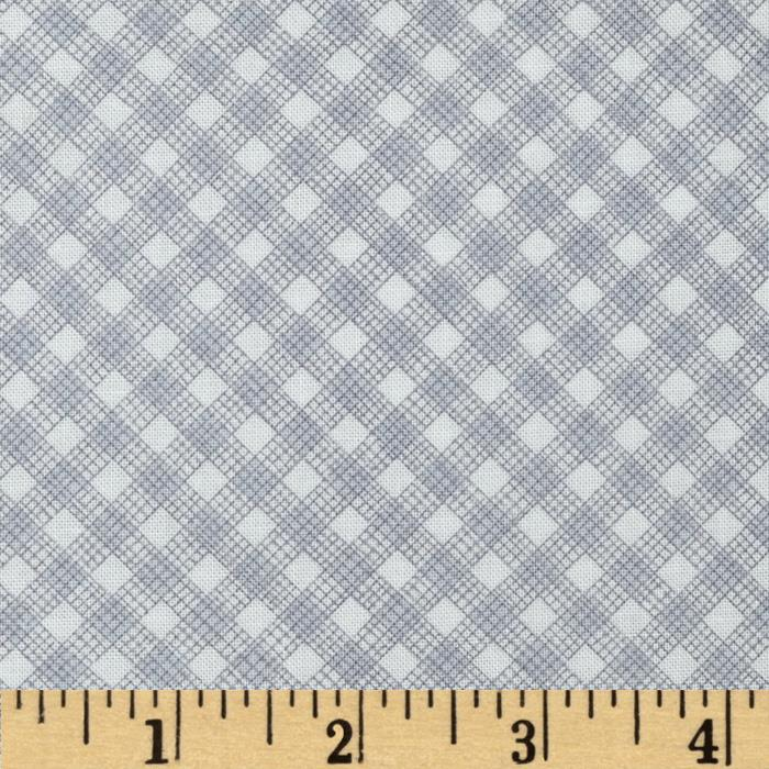 Timeless Treasures Sketch Gingham Grey