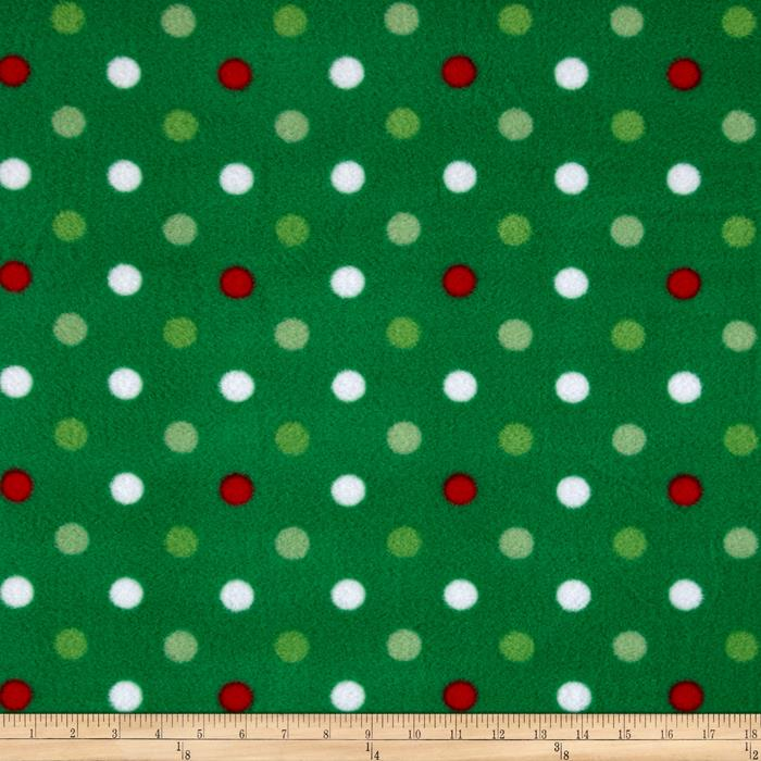 Simply Fleece Dots Green