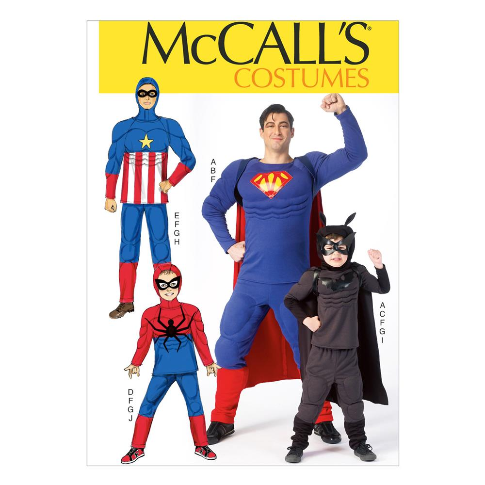 McCall's Men's'/Children's/Boys' Costumes Pattern M7002 Size KID