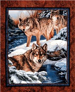 "Wild Wings Narragansett Creek Wall Hanging 36"" Panel Multi"