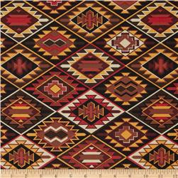Mesa Verde Indian Blanket Brown Fabric