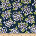 Dover Flannel Packed Floral Navy