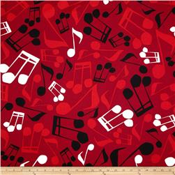 Jazz Jam Large Music Note Red