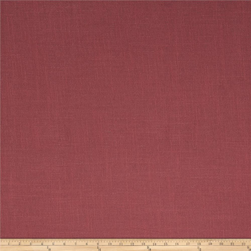 French General Cassis Basketweave Linen Rural Red