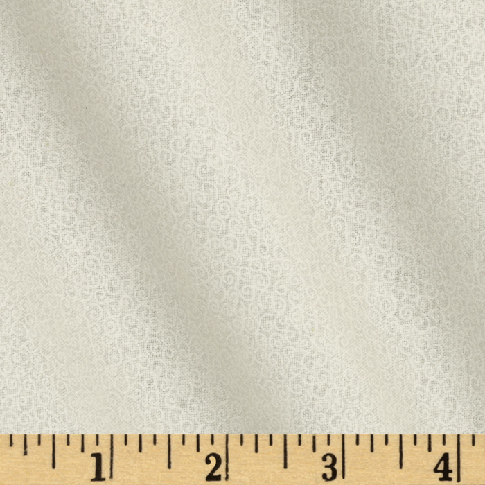 Fabric.com coupon: Tone On Tone Scrolls White/Ivory Fabric