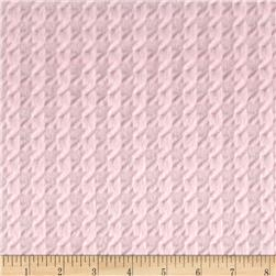Minky Embossed Houndstooth Blush