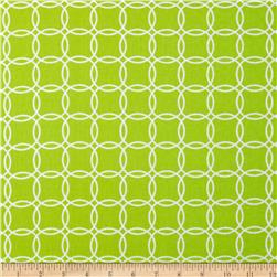 Metro Living Interlocking Circles Lime Fabric