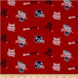 Collegiate Cotton Broadcloth University of Arizona Cardinal