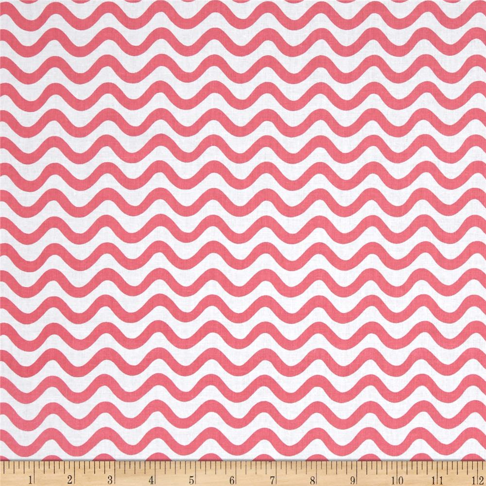 Tiny World Wavy Lines Pink