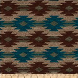 Sweater Knit Southwest Teal/Tan/Brown