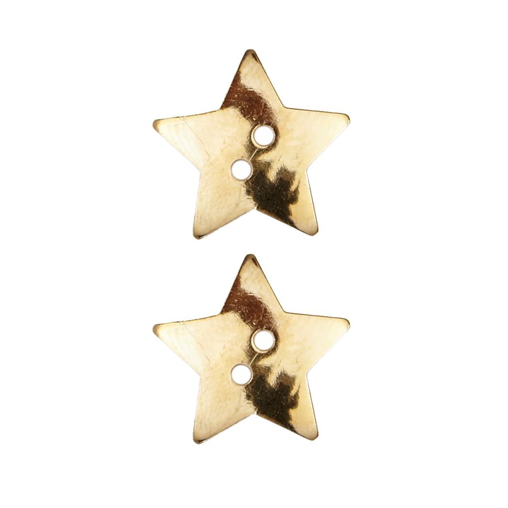 Dill Novelty Button 3/4'' Faux Metal Star Gold