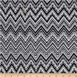 Rihan Jersey Knit Chevron Black/White