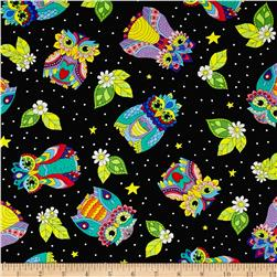 Night Bright Owl Toss Black