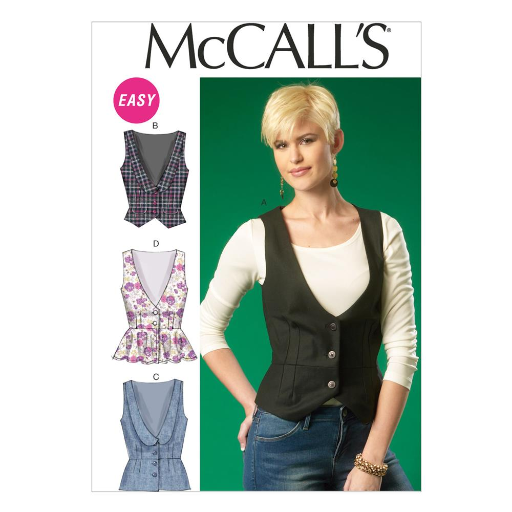McCall's Misses' Vests Pattern M7023 Size A50