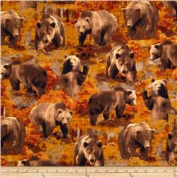 Kanvas The Great North Wilderness Flannel Brown Bear