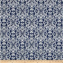 Tempo Indoor/Outdoor Damask Fret Navy Fabric