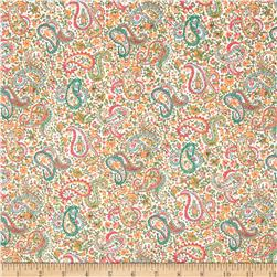Liberty of London Tana Lawn Charles White/Orange