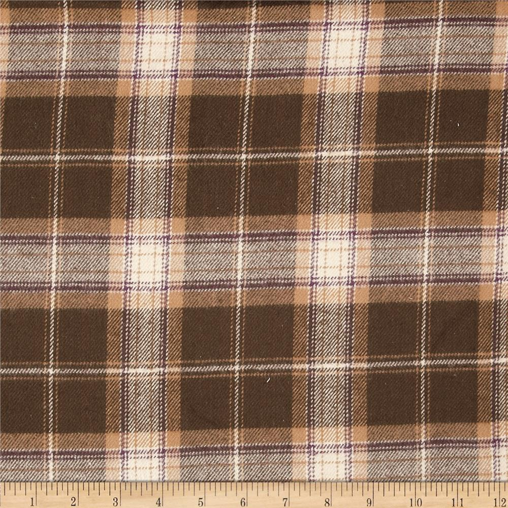 Primo Plaids V Flannel Box Plaid Brown