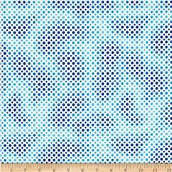 Ombre Dot Dark Blue Fabric