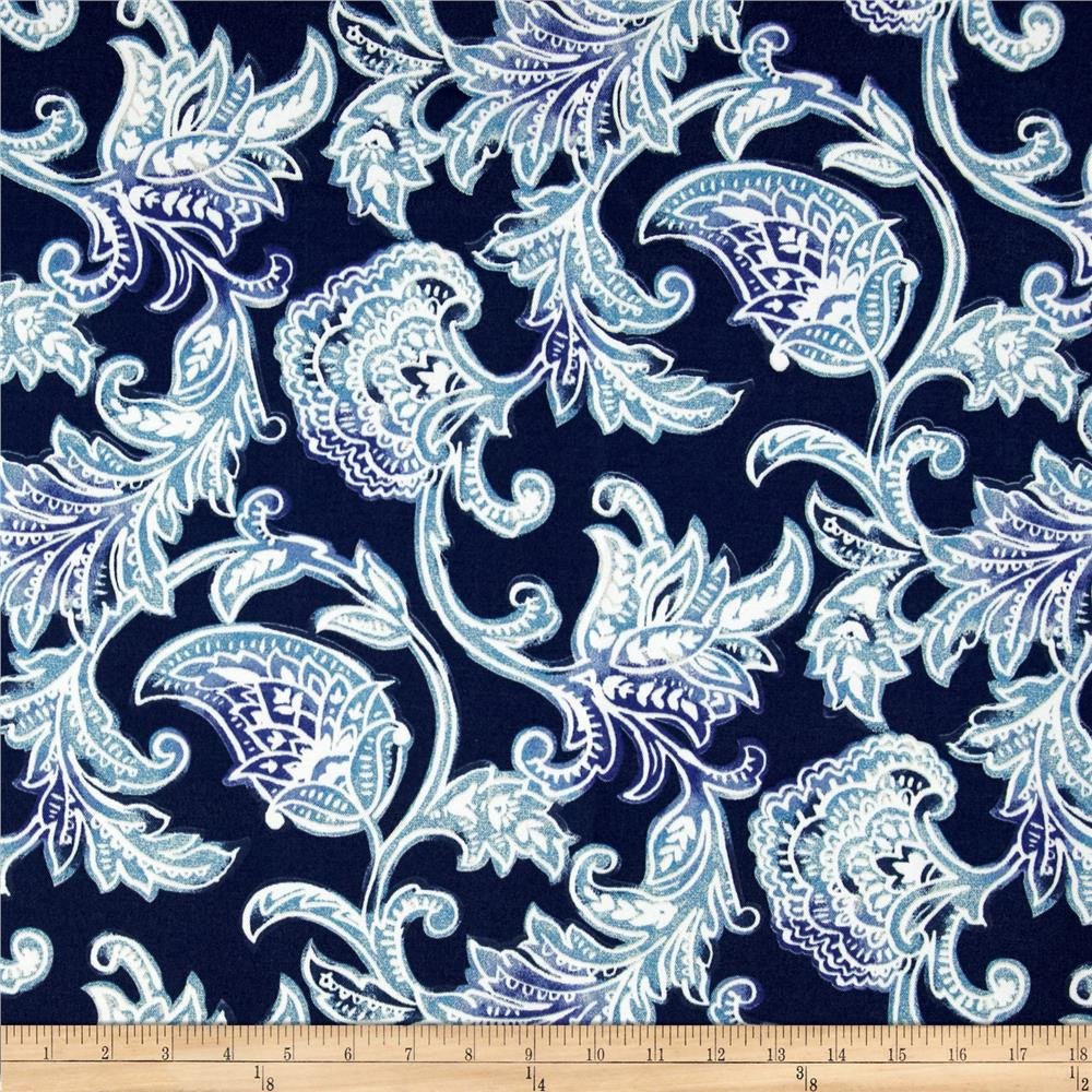 Richloom Solar Indoor/Outdoor Lahaye Paisley Indigo