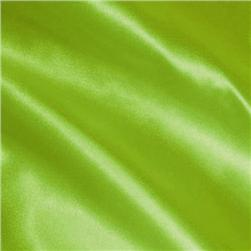 Charmeuse Satin Lime Green Fabric