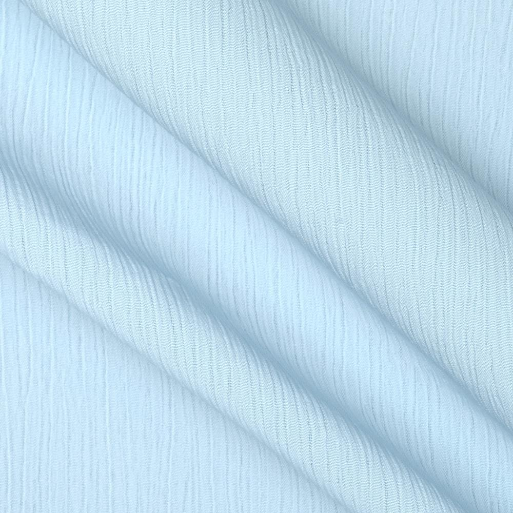 Lyric Wide Crinkle Polyester Shirting Sky Blue