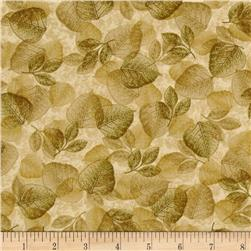 Sunflower Journal Leaf Transitions Green/Natural Fabric