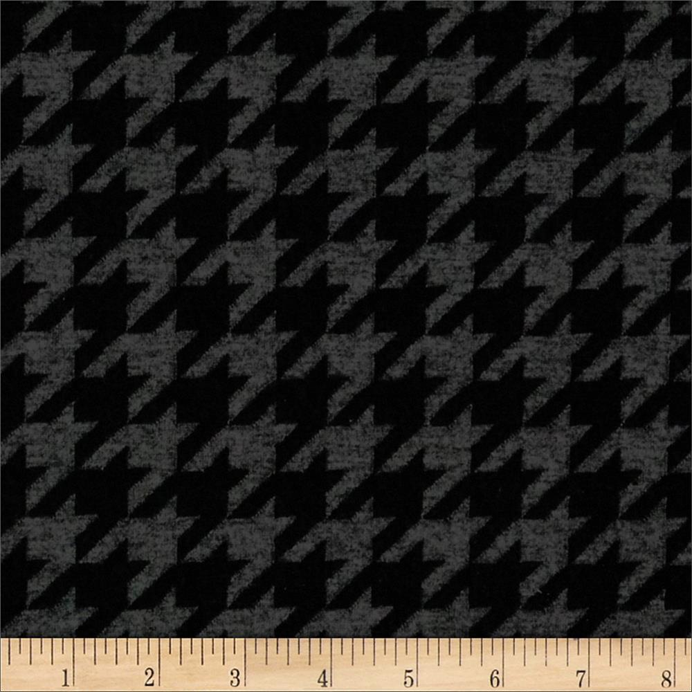 Jacquard Knit Houndstooth Black/Grey