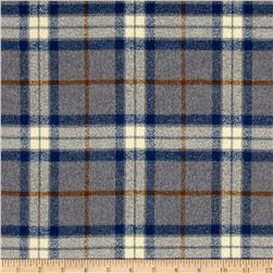 Kaufman Mammoth Flannel Large Plaid Steel