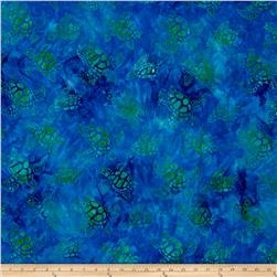 Kaufman Totally Tropical Batik Sea Turtles Caribbean