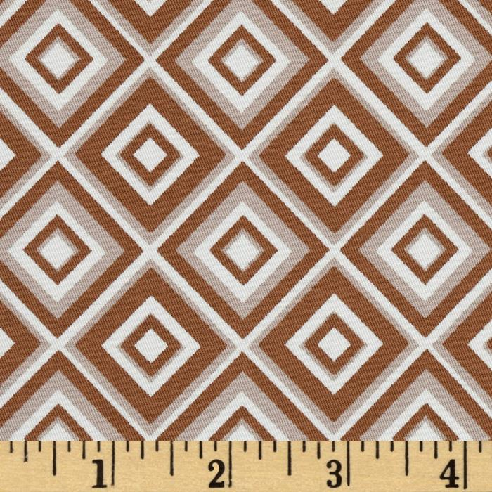 Palermo Stretch Cotton Twill Diamond Toffee