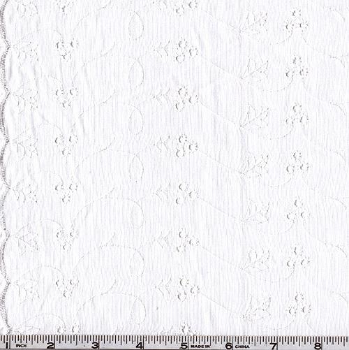 Lightweight Embroidered Eyelet White