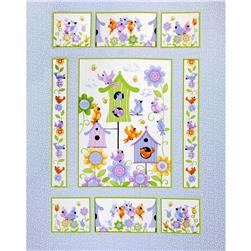Bird's House Panel Periwinkle