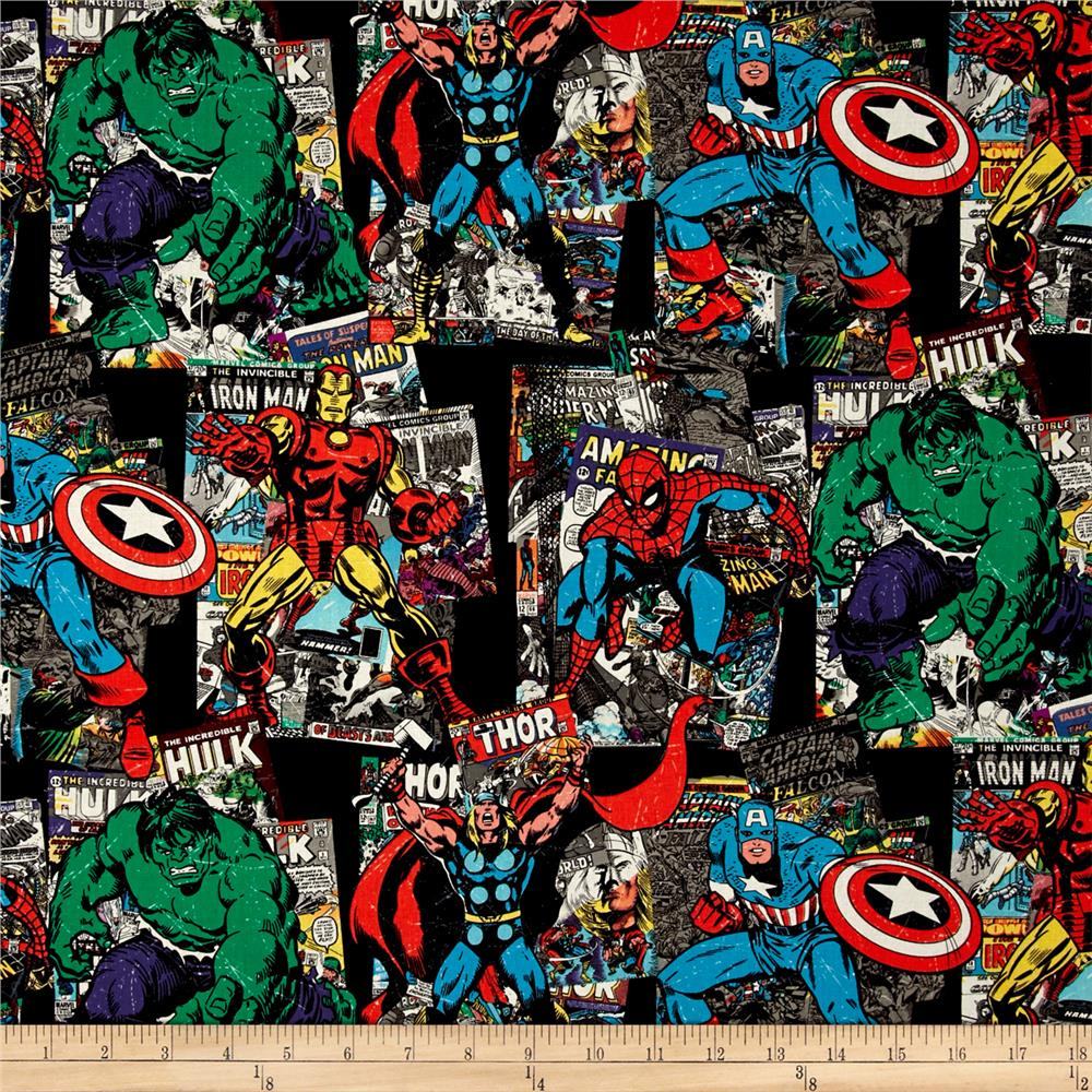 Marvel Retro Comics Vintage Character Toss Black