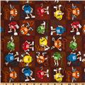 M & M Flannel Small Patch Brown