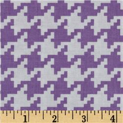 Michael Miller Everyday Houndstooth Purple Fabric
