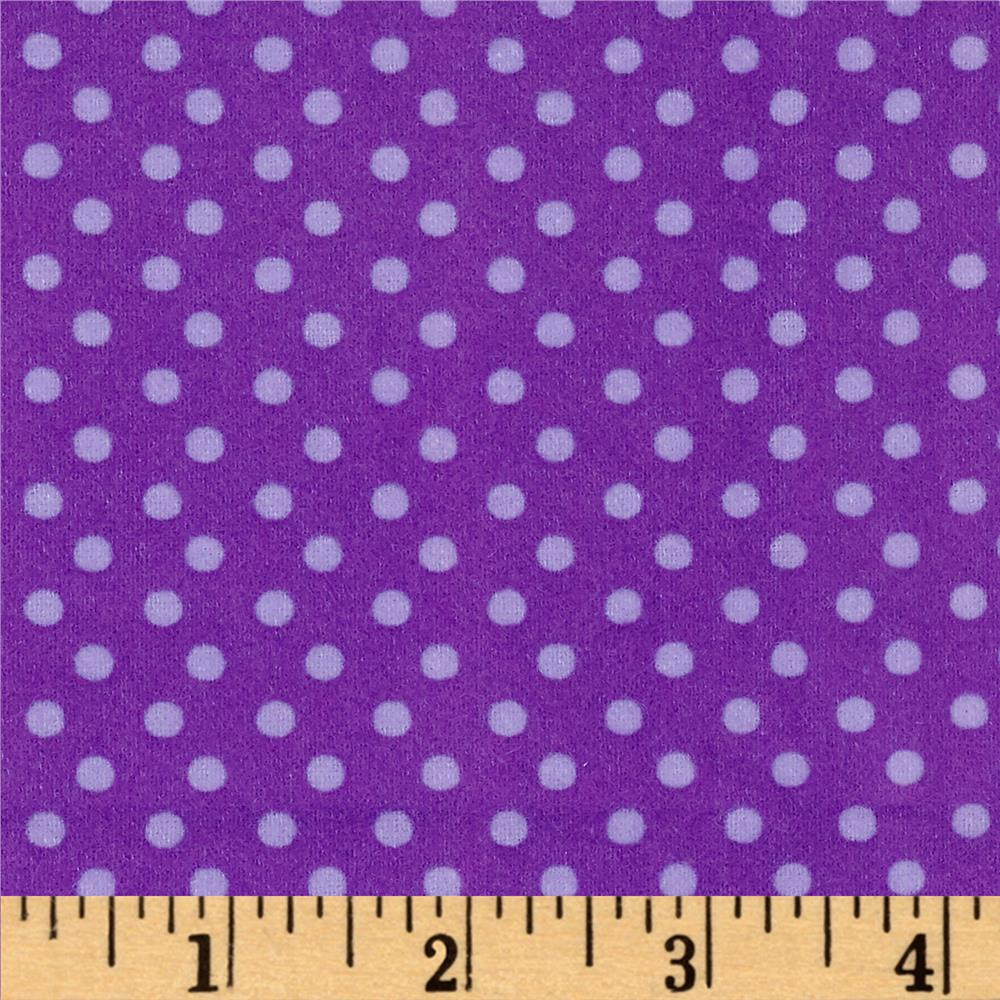What a Hoot Flannel Dots Purple