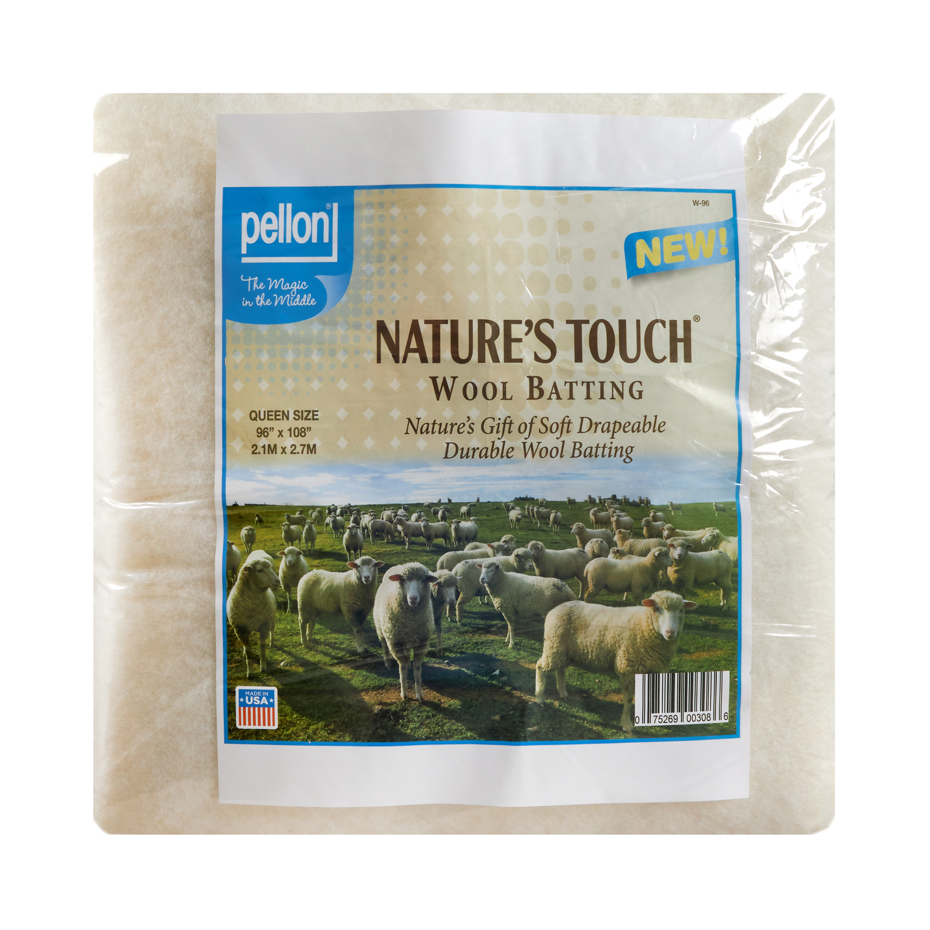 Pellon Wool Batting Queen 96'' X 108'' by PCP in USA