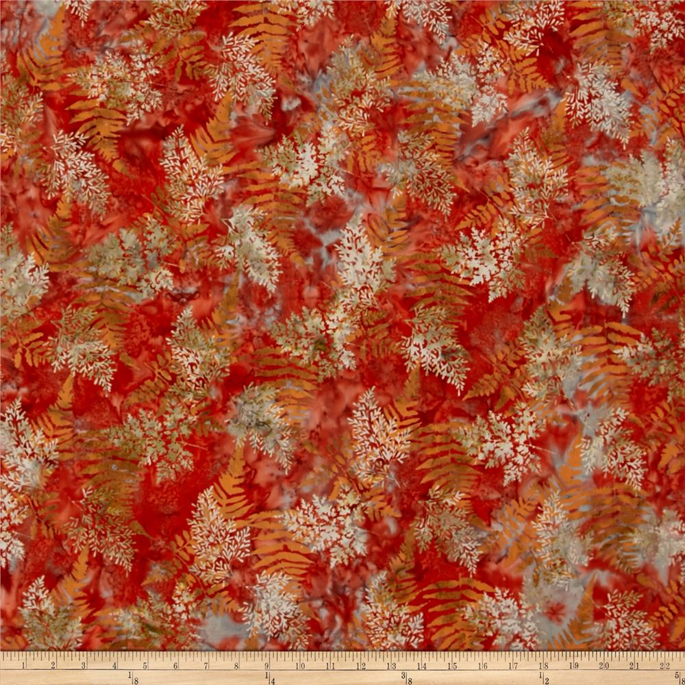 Bali Batiks Handpaints Fern Crawfish