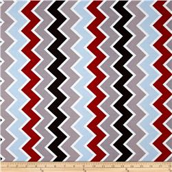 Riley Blake Speedster Sporty Chevron Blue Fabric