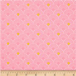 Itty Bitty Hoops Pink Fabric