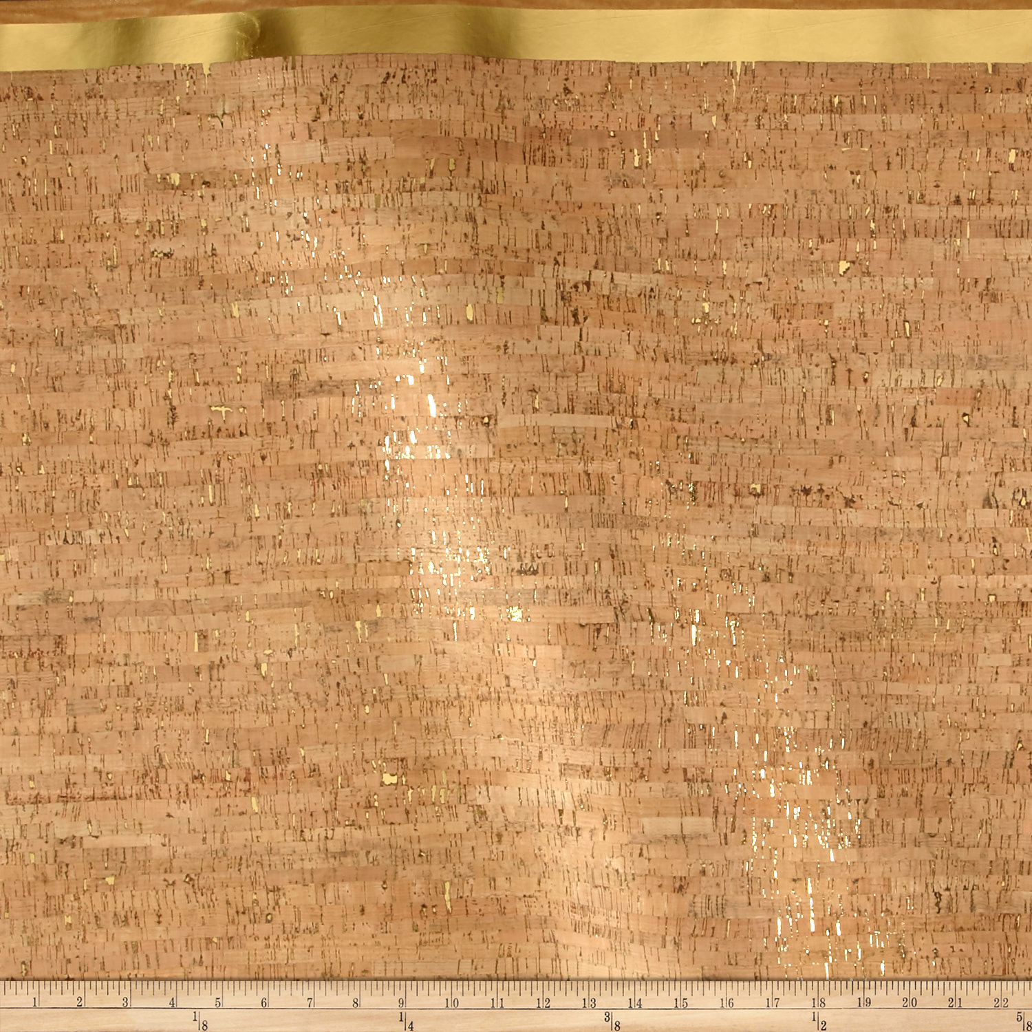 Image of EverSewn Cork Fabric 1 Yard Natural with Gold Flecks