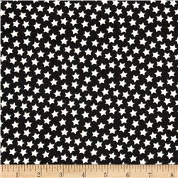 Camelot Flannel Glow-In-The-Dark Stars Black Fabric