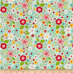 Riley Blake Garden Girl Floral Mint