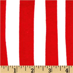 Celebrate Seuss! Flannel Squiggle Stripe Red/White