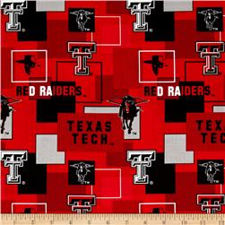 Collegiate Cotton Broadcloth Texas Tech University Block Print