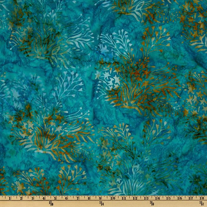 108'' Wide Tonga Batik Quilt Backing Kelp Mermaid