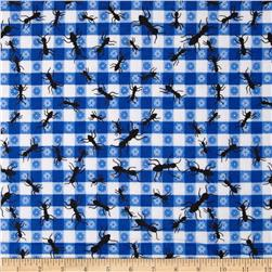 Comfy Flannel Ants Blue
